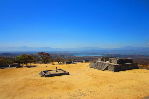 On top of Xochicalco archeological site. Photo by Kirsten Fenn