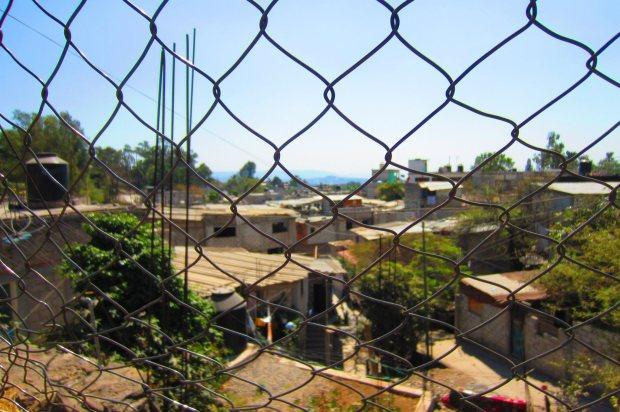 Behind a fence in Cuernavaca. Photo by Kirsten Fenn