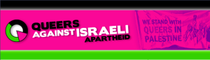 The logo of Queers Against Israeli Apartheid. Courtesy: queersagainstapartheid.org