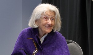 Dr. Truda Rosenberg, a Holocaust survivor, shared her story at the Zelikovitz Centre conference on April 25. Photo provided.
