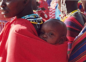 A mother and her child in Tanzania.