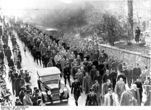 Arrest of Jews at Baden-Baden, November 1938. Photo provided by German Federal Archives