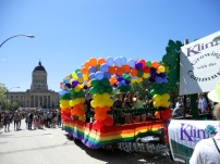 A float in the Winnipeg pride parade. Photo by Rachel Swatek