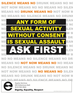 A sexual assault awareness poster circulated by Carleton University