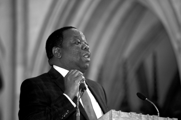 Zimbabwean Presidential Candidate Morgan Tsvangirai speaks at London's Southwark Cathedral in 2009. Photo by Steve Punter, Creative Commons