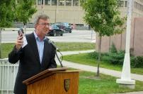 Ottawa Mayor Jim Watson spoke of the importance of GLBTQ inclusiveness at home, and around the world. Photo by Kirsten Fenn