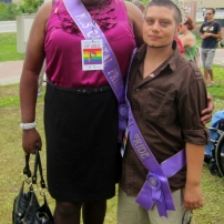Miss and Mr. Capital Pride were in attendance at the official flag raising ceremony. Photo by Kirsten Fenn