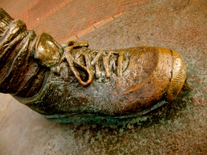 Foot of Terry Fox statue in Ottawa. Photo provided by Mike Gifford.