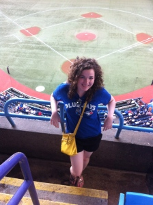 """Caitlin enjoying her """"happy ending"""" at a baseball game. Provided"""