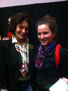 Margaret Trudeau spoke to students after her speech at Carleton on Oct. 3. Provided