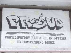 The front door of DUAL (Drug User Advocacy Leaugue)