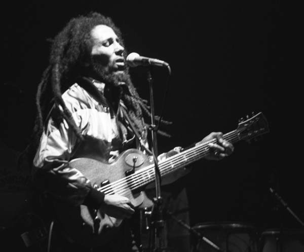 Bob Marley live in concert in Zurich, Switzerland, on May 30, 1980. Photo by Ueli Frey. (CC BY-SA 3.0)