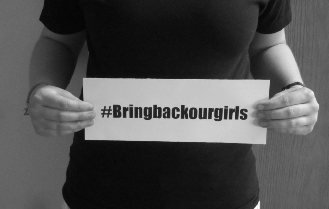 A #Bringbackourgirls sign. Photo by Erica Howes.