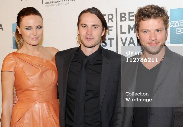 Actors Malin Akerman, Taylor Kitsch and Ryan Phillippe at The Bang Bang Club movie premiere