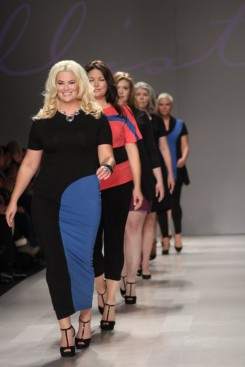 Plus-size line, Allistyle, held the first Canadian plus-size fashion show at Toronto Fashion Week in 2012. Photo from Real Style.