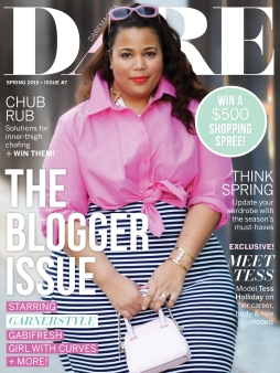 DARE magazine's cover of this year's spring issue. Photo provided by DARE magazine.