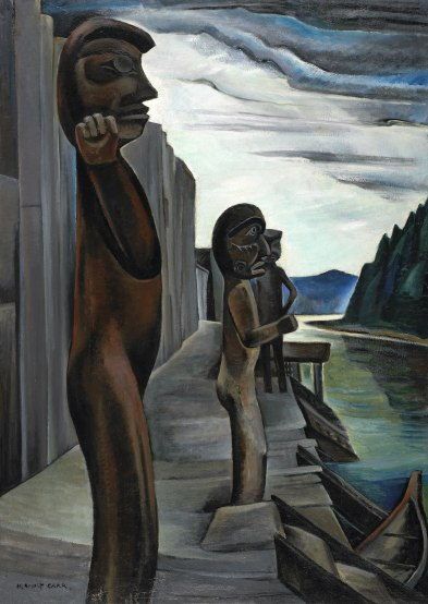 Blunden_harbour_totems_Emily_Carr