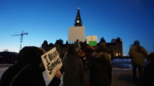 Following the rally, demonstrators marched to Parliament Hill.